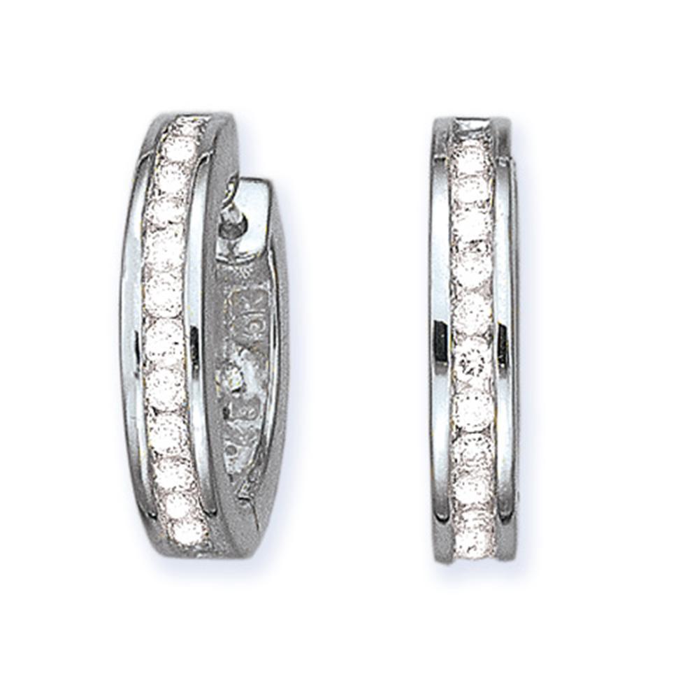 katarina 10K White Gold 1/2 ct. Diamond Huggie Earrings
