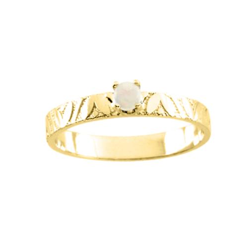 katarina 14K Yellow Gold 3 MM Opal Children's Ring
