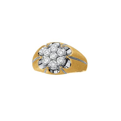 14K Two Tone Gold 1 ct. Diamond Men's Ring