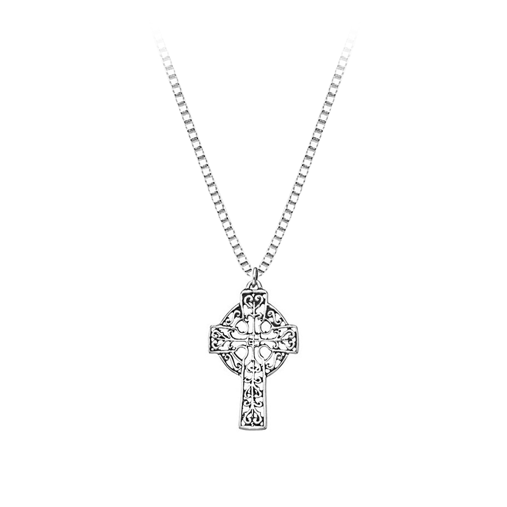 Sterling Silver Celtic Cross Pendant with Chain 82005881