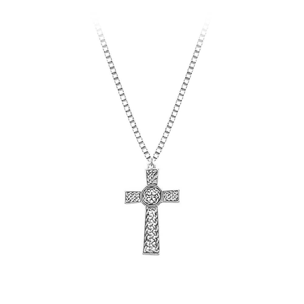 Sterling Silver Celtic Cross Pendant with Chain 82005882