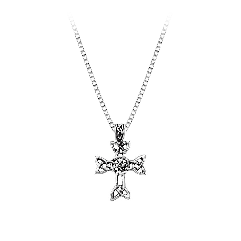 Sterling Silver Celtic Cross Pendant with Chain 82005883