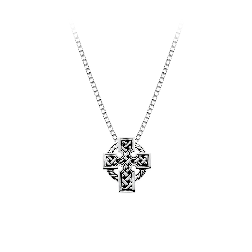 Sterling Silver Celtic Cross Pendant with Chain 82005893
