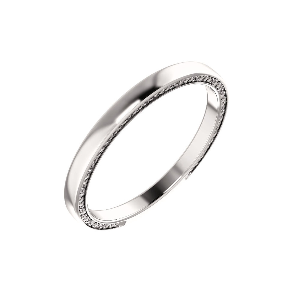 Sculptural Band in 14K White Gold 82006143