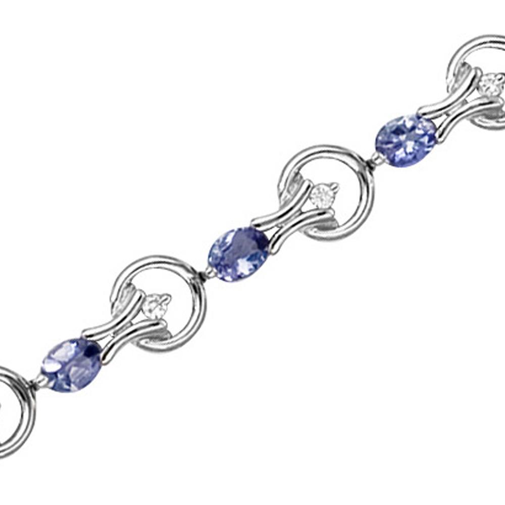 katarina 14K White Gold 1/5 ct. Diamond and 2 3/4 ct. Tanzanite Bracelet at Sears.com